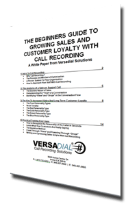 The Beginners Guide To Growing Sales with Call Recording